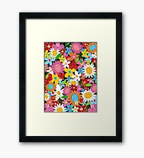 Colorful Whimsical Spring Flowers Garden Framed Print