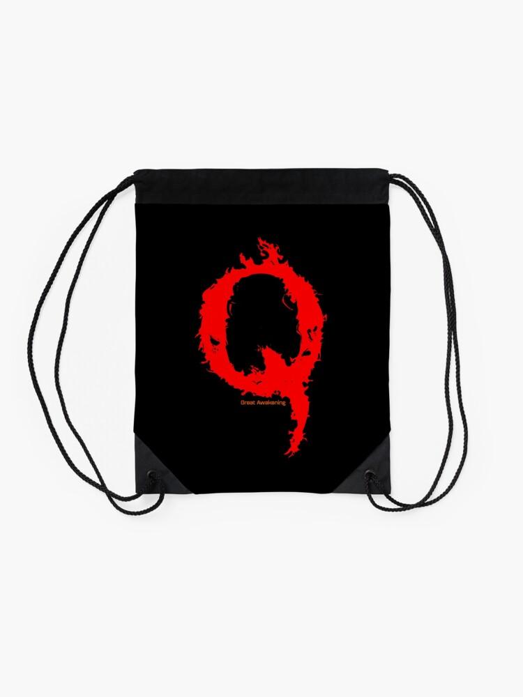 Alternate view of Qanon - Great Awakening - Fire Drawstring Bag