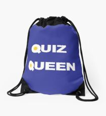 HQ Trivia Quiz Queen Products Drawstring Bag