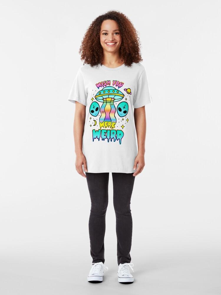 Alternate view of Wish You Were Weird Slim Fit T-Shirt