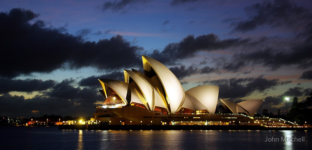 Sydney Opera House, dawn, travel, incons, landmarks, opera, house, arts by John Mitchell