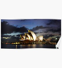 Sydney Opera House, dawn, travel, incons, landmarks, opera, house, arts Poster