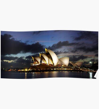Sydney Opera House, dawn, travel, incons, landmarks, opera, house, arts Poster