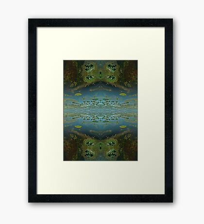 Okavango Delta aerial view abstract 3 Framed Print
