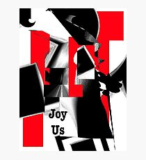 Joy Us Graphic with Red Photographic Print