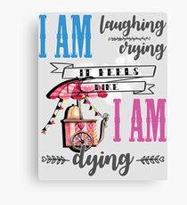 Laughing and crying Canvas Print