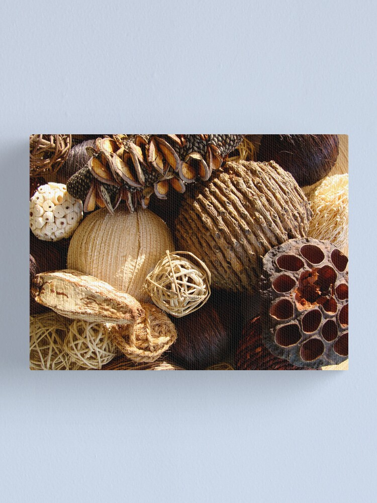 Alternate view of Textured Browns Canvas Print