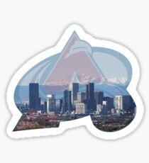 Colorado Avalanche and Denver Skyline Sticker