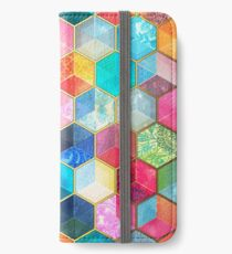 Crystal Bohemian Honeycomb Cubes - colorful hexagon pattern iPhone Wallet/Case/Skin