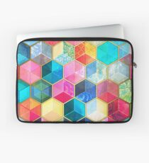 Crystal Bohemian Honeycomb Cubes - colorful hexagon pattern Laptop Sleeve