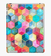 Crystal Bohemian Honeycomb Cubes - colorful hexagon pattern iPad Case/Skin