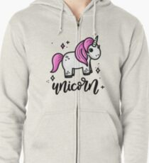 Unicorn Zipped Hoodie