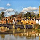 Aylesford Village and bridge by Sue Purveur