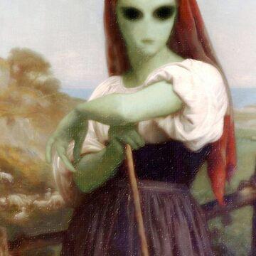 Alien Shepherdess by Gravityx9