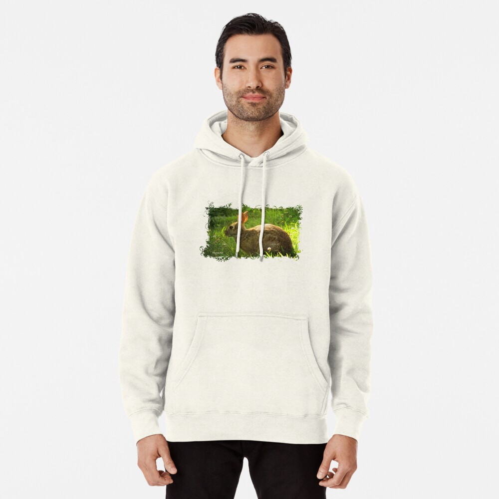 Wild Bunny ~ In a Patch of Clover Pullover Hoodie