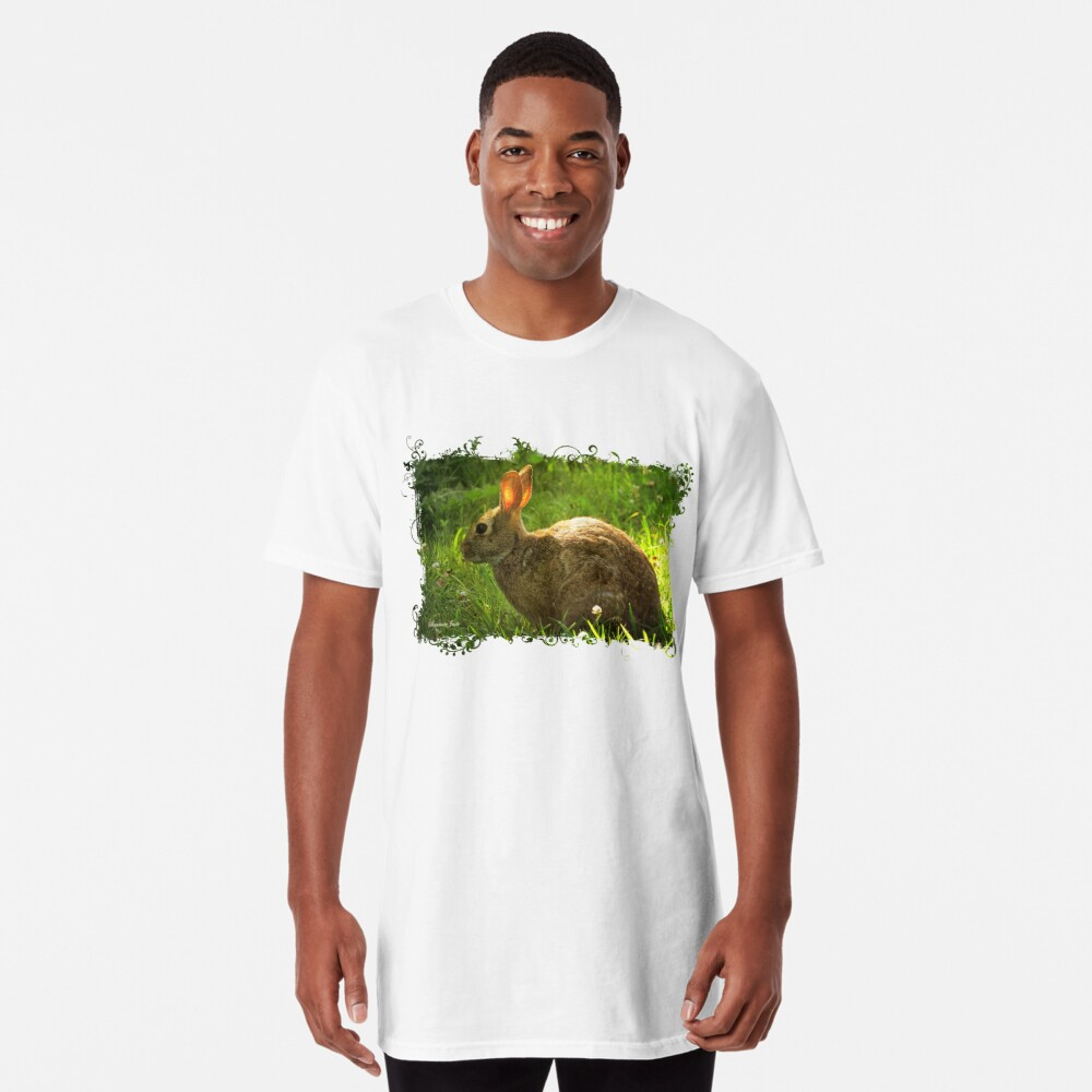 Wild Bunny ~ In a Patch of Clover Long T-Shirt