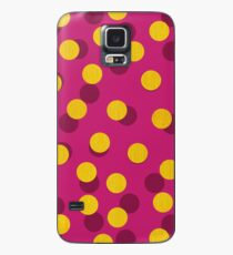 Gold Spotty Dots Case/Skin for Samsung Galaxy