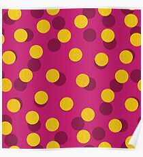 Gold Spotty Dots Poster