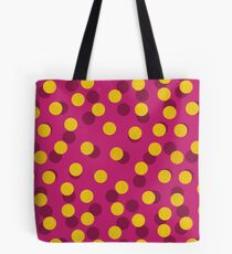 Gold Spotty Dots Tote Bag