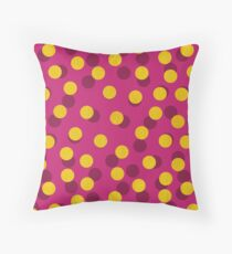 Gold Spotty Dots Throw Pillow