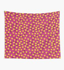 Gold Spotty Dots Wall Tapestry