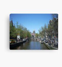 beauty of amsterdam Canvas Print