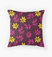 Gold Umbrella Leaf Throw Pillow