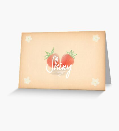 Shiny Greeting Card
