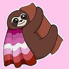 Lesbian LGBTQ* Pride Sloth by riotcakes
