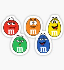 M&M's multi color Sticker