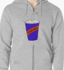Consume - Soda Design Zipped Hoodie