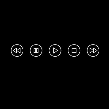 Play Pause Rewind (white) by EleYeah
