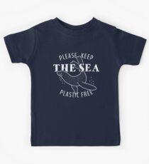 Bitte bewahren Sie die Sea Plastic Free - Seal Kinder T-Shirt
