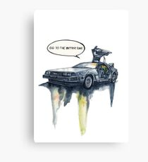 DMC - back to the future Canvas Print