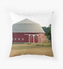 Indiana Round Barn Throw Pillow