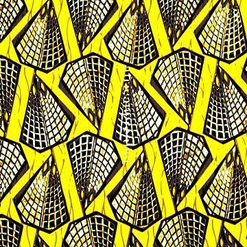 African ankara wax print yellow by hellcom