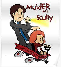 Mulder und Scully Poster
