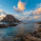 Sugarloaf Rock at sunset by Peter Rattigan