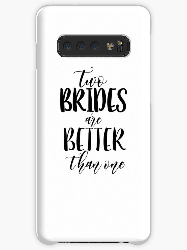 release date 3a303 80401 'TWO BRIDES BLACK Lesbian Bachelorette Lesbian Couple Design Lesbian Bride  Lesbian Wedding Two Wive Two Bride Wedding' Case/Skin for Samsung ...