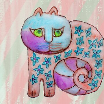 Colorful cat by Marili-Design