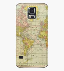Vintage Map of The World (1909) Case/Skin for Samsung Galaxy