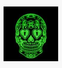 Skull Neon Photographic Print