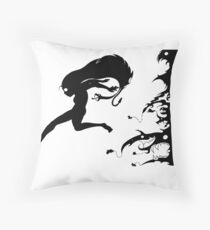 Fleeing the Past Throw Pillow