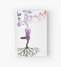 Yoga Woman Tree Roots - Yoga Tree Pose Hardcover Journal