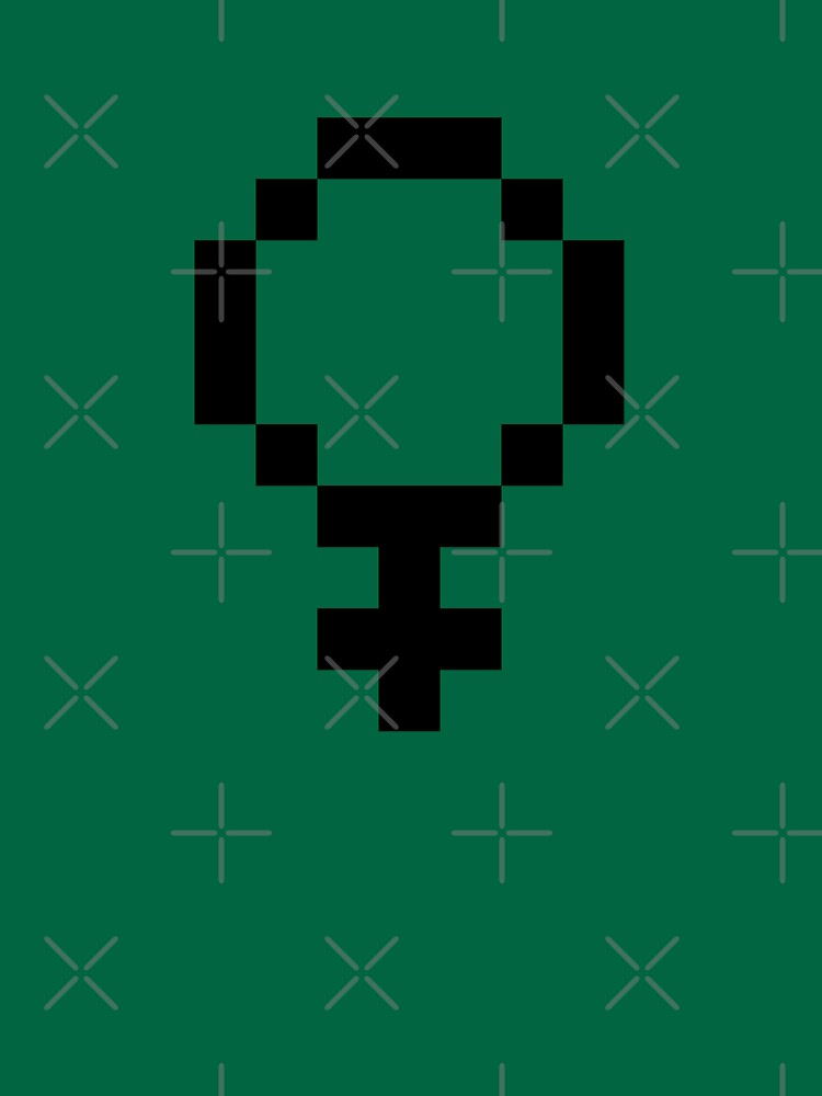 8 Bit Women's Symbol by feministshirts