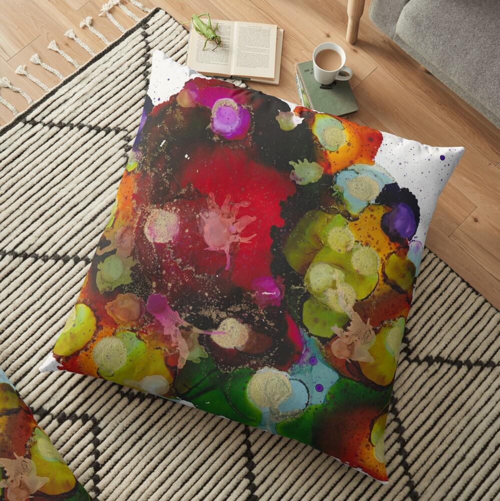 Colour Bubbles Floor Pillow