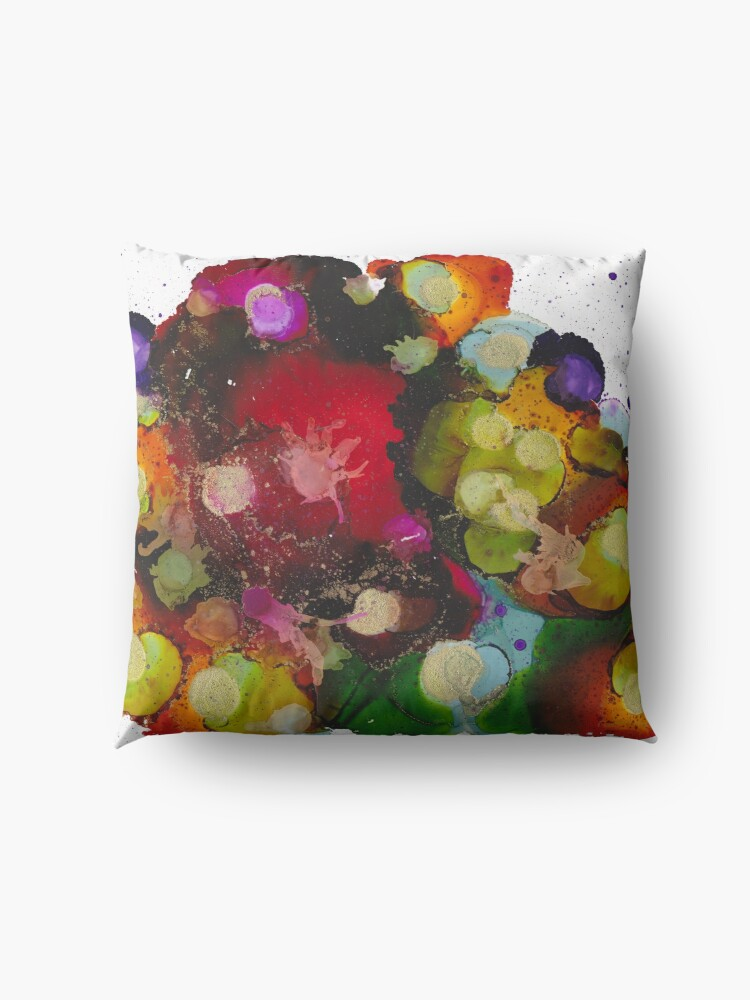 Alternate view of Colour Bubbles Floor Pillow
