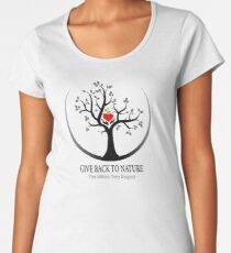 Give Back to Nature Logo - For Light Backgrounds Women's Premium T-Shirt