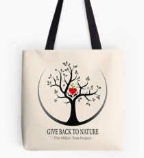 Give Back to Nature Logo - For Light Backgrounds Tote Bag