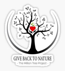 Give Back to Nature Logo - For Light Backgrounds Sticker